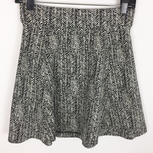 Theory Skirt Small Cotton Wool White Black A-Line
